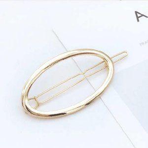 Brandy Melville Gold Metal Oval Hair Clip Barrett